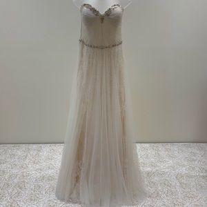 NWT Enzoani Strapless Dress W/Beaded Waistline